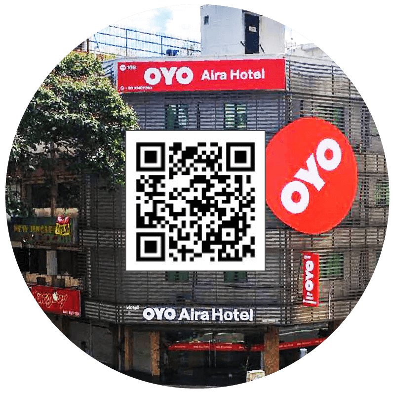 OYO booking discount QR Code
