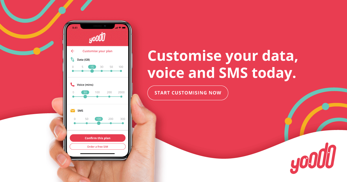 Customise your data, voice and SMS - Yoodo